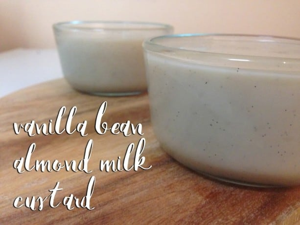 Vanilla Bean Almond Milk Custard
