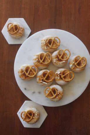 Salted Caramel Pretzel Baked Donuts Doughnuts Sweetly Baked Perth
